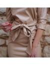 EKO LEATHER DRESS WITH BELT