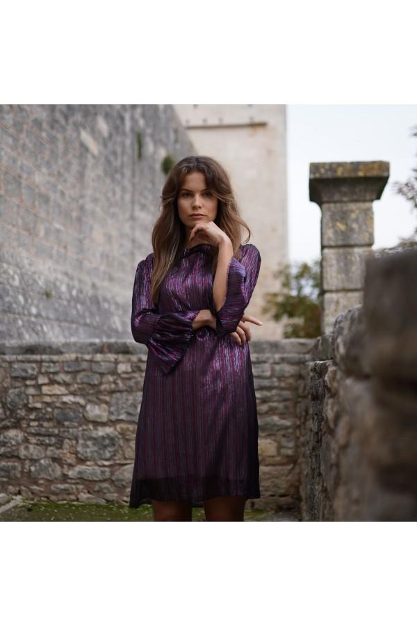 SILK COCTAIL TUNICA DRESS