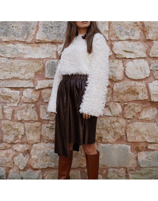 FRINGE WOOL SWEATER