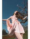 PASTEL PEACH ASYMETRIC DRESS