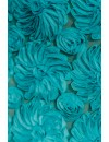 EXCLUSIVE 3D FLOWERS SILK DRESS