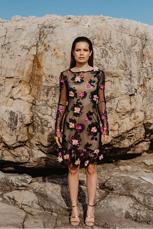 EXCLUSIVE  TULLE DRESS WITH EMBELLISHED  DETAILS