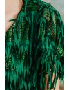 GREEN FRINGE DRESS