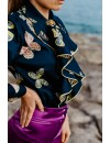 PRINT BLOUSE WITH RUFFLES