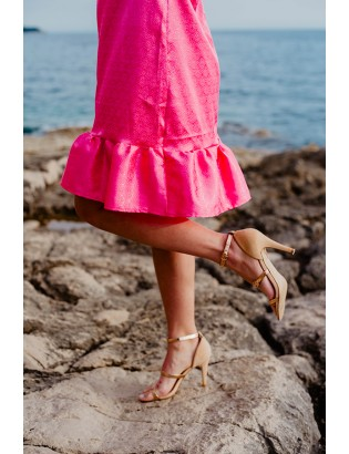 PINK SATIN TUNIC DRESS