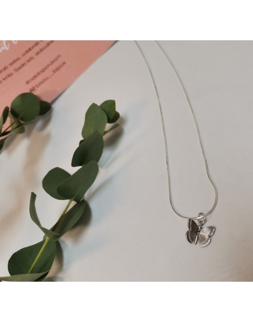 BUTTERFLY NECKLACE- SILVER
